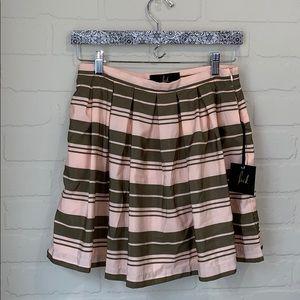 Jack NWT  BB Dakota peach green striped skirt 8